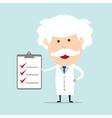 Professor show checklist vector image