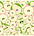 seamless pattern with simple mosaic fruits vector image