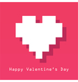Valentines Day card with pixelated heart vector image