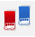 realistic design element bus vector image