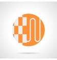 Heat-insulated floor orange round icon vector image