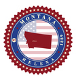 Label sticker cards of State Montana USA vector image