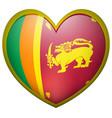 sri lanka flag on heart badge vector image