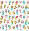 seamless summer pattern with ice cream vector image