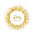 festive background with golden glitter circle vector image vector image