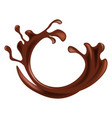 hot chocolate splash in brown color isolated on vector image