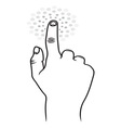 Touchscreen ruka resize vector image vector image