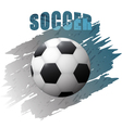 Grunge design with soccer ball vector image