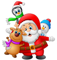cartoon christmas doll collections vector image