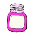 comic cartoon kitchen jar vector image