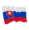 political waving flag of slovakia vector image vector image