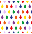 Colorful Rain White Background vector image