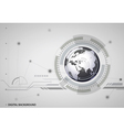 abstract hitech digital global background vector image