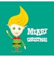 cartoon cute happy Christmas elf vector image