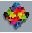 Colorful diamond with triangle texture vector image