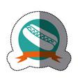 emblem hot dog fast food icon vector image