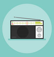isolated old radio icon flat style vector image