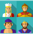 journey to the west character portrait in flat vector image