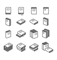 Office folders icons set vector image