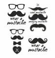 set a mustahe vector image