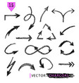 set of grunge arrows vector image