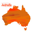isolated australian map vector image
