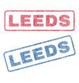 leeds textile stamps vector image