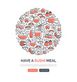 sushi web templates vector image