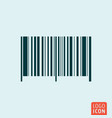 barcode symbol bar code icon isolated vector image