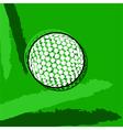 Stylized golf ball vector image vector image