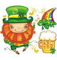 St Patrick's Day symbols vector image
