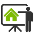 Realtor icon from Business Bicolor Set vector image