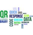 word cloud QR code vector image