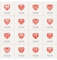 Ornamental Hearts Logos vector image vector image
