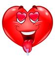 in love heart vector image