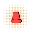 Thimble icon comics style vector image vector image