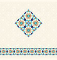 abstract geometric background in arabic style vector image