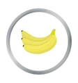Banana icon cartoon Singe fruit icon from the vector image