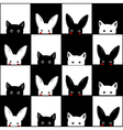 Black White Cat Rabbit Chess board vector image