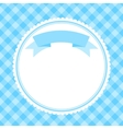 blue frame for invitation card vector image