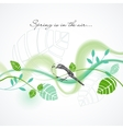fresh spring background vector image