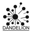 meadow dandelion logo icon simple style vector image