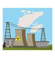 nuclear power plant icon cartoon style vector image