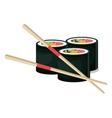 rolls suchi japanese food vector image