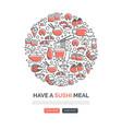 sushi web templates vector image