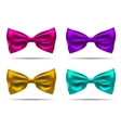set of silk bow ties on a background EPS vector image