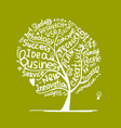 business idea tree sketch for your design vector image vector image