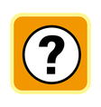 A icon of question mark vector image vector image