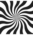 abstract monochrome curly rays vector image