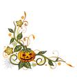 Halloween leaves pumpkin vector image vector image